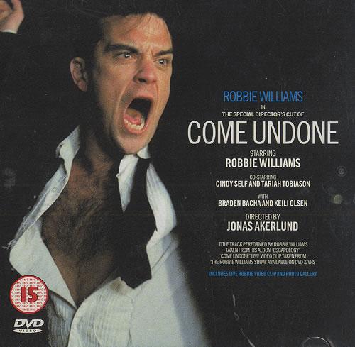 Robbie Williams Come Undone 2003 UK DVD Single DVDCHS5151