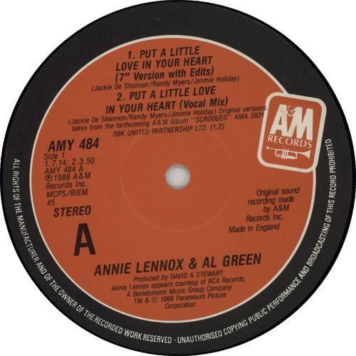 Annie Lennox Put A Little Love In Your Heart 1988 UK 12 vinyl AMY484