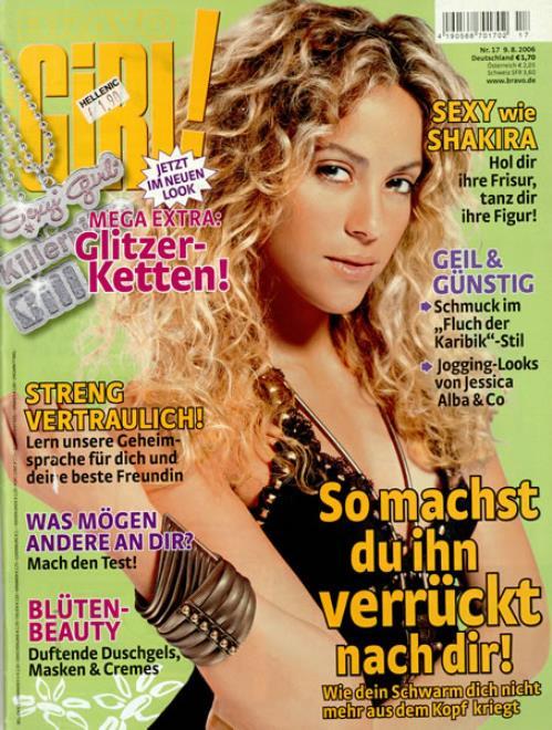 Shakira Bravo Girl! 2006 German magazine