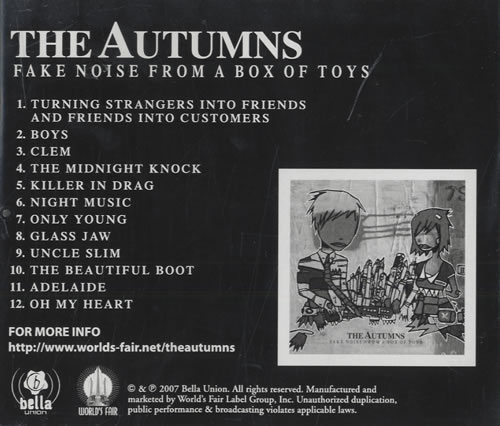 The Autumns Fake Noise From A Box Of Toys 2007 USA CD album BEU414