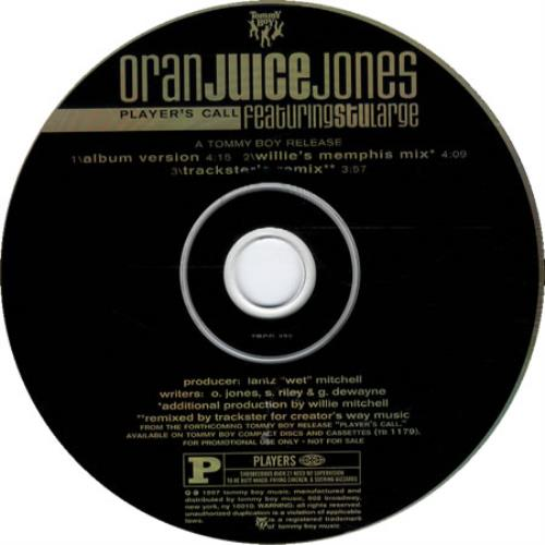 Oran Juice Jones Players Call 1997 USA CD single TBCD0422