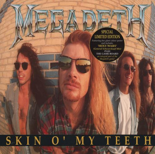 Megadeth Skin O My Teeth  Game Board Poster 1992 UK 7 vinyl CLP669
