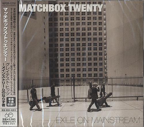 Matchbox 20 Exile On Mainstream 2007 Japanese CD album WPCR-12791
