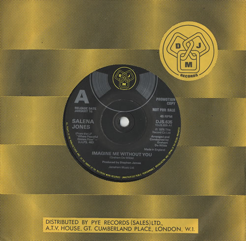 Salena Jones Imagine Me Without You 1976 UK 7 vinyl DJS635
