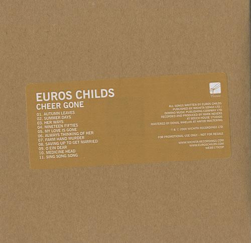 Euros Childs Cheer Gone 2008 UK CD album WEBB179CDP
