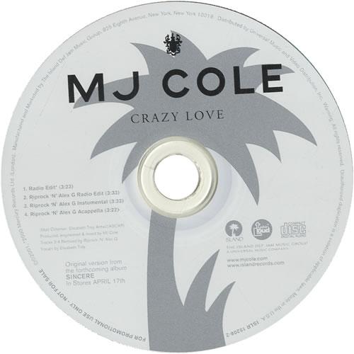 MJ Cole Crazy Love 2001 USA CD single ISLR152082