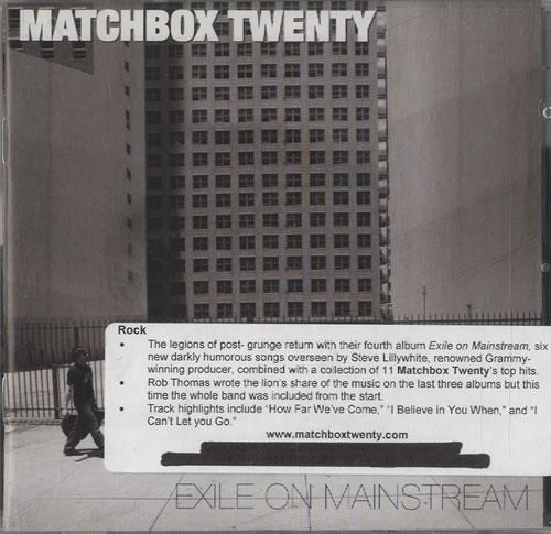 Matchbox 20 Exile On Mainstream 2007 USA 2-CD album set 297340-2
