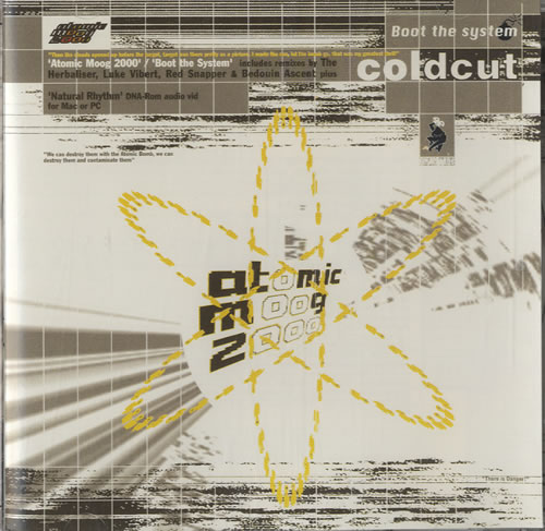 Coldcut Atomic Moog/Boot The System 2000 USA CD single ZENCDS48