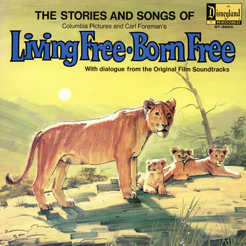 Walt Disney Living Free, Born Free 1972 UK vinyl LP ST-3803