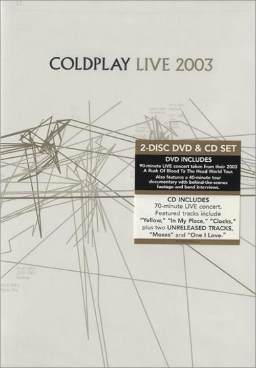 Coldplay Live 2003 2003 USA 2disc CDDVD set 72435990220