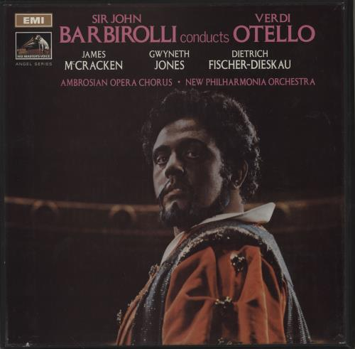 Giuseppe Verdi Otello 1969 UK vinyl box set SLS9403