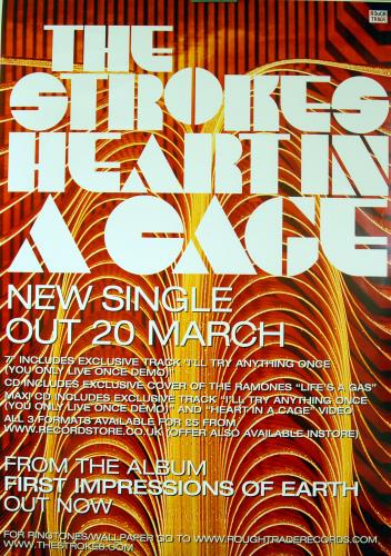 The Strokes Pair of Promotional Rough Trade Poster 2003 UK poster PROMOTIONAL POSTERS