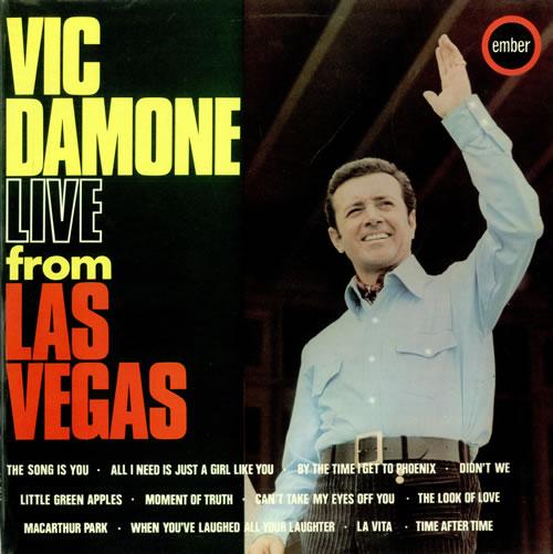 Vic Damone Vic Damone Live From Las Vegas 1969 UK vinyl LP NR5045