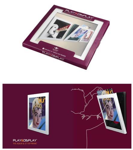"Image of Art Vinyl/Artvinyl Play & Display Album Flip Frame White Play & Display Album & 12"" Flip Frame - Single 2009 UK Art Vinyl P&D Frame"