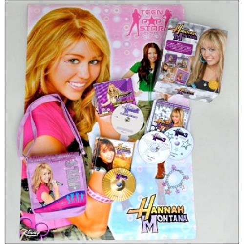 Hannah Montana Hannah Montana Singalong 4disc XMas Fan Box 2009 UK 3disc CDDVD Set 3062822