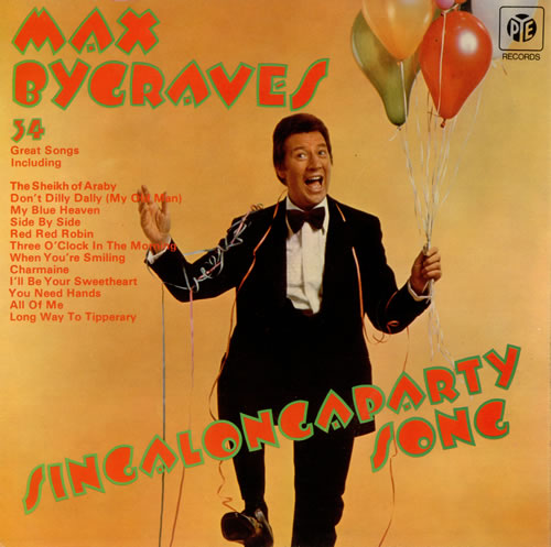 Max Bygraves Singalongaparty Song 1973 UK vinyl LP NSPL18419