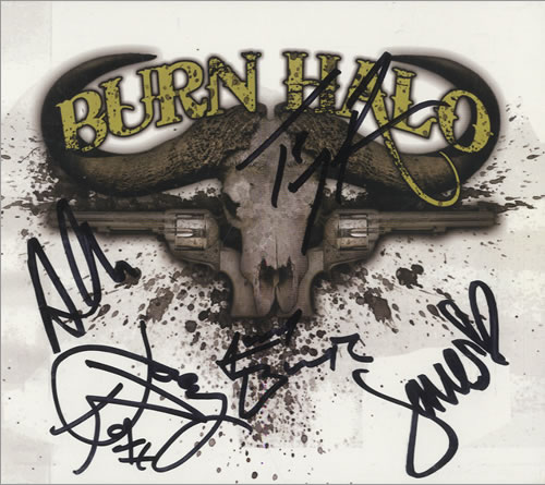 Burn Halo Burn Halo  Autographed 2009 USA CD album X31603