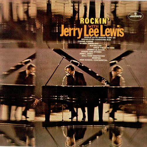 Jerry Lee Lewis Rockin With Jerry Lee Lewis  EX 1972 UK vinyl LP 6336300