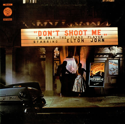 Elton John Dont Shoot Me Im Only The Piano Player 1980 Portugese vinyl LP MM8014