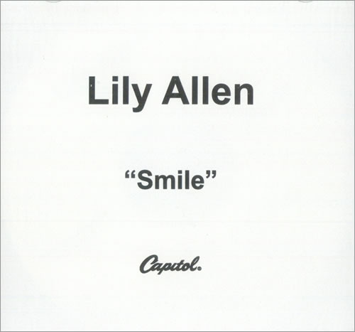 Lily Allen Smile USA CD-R acetate CD-R ACETATE