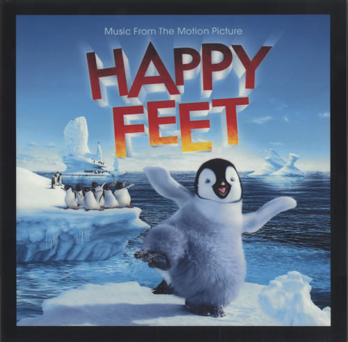 Original Soundtrack Happy Feet 2006 USA display LIGHTBOX DISPLAY