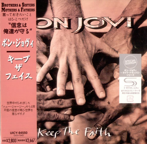 Bon Jovi Keep The Faith 2010 Japanese SHM CD UICY94550