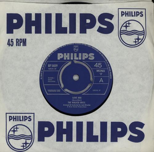 "Image of The Walker Brothers Love Her 1966 UK 7"" vinyl BF1409"