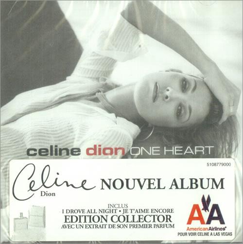 Celine Dion One Heart  Perfume 2003 Canadian CD album 5108779