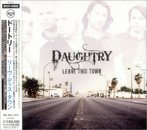 Daughtry Leave This Town 2009 Japanese CD album BVCP40082