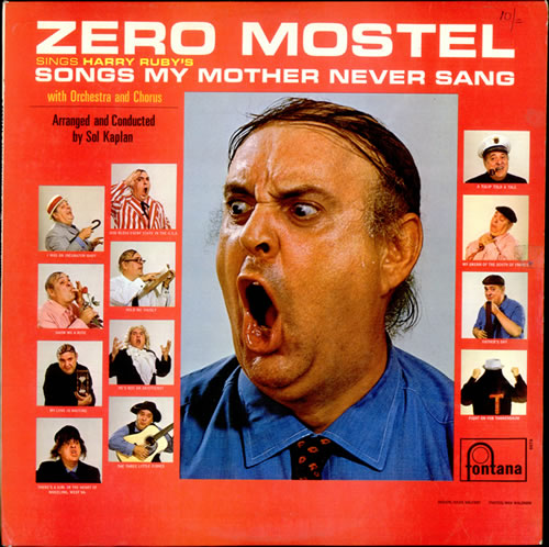 Zero Mostel Songs My Mother Never Sang 1966 UK vinyl LP TFL6076