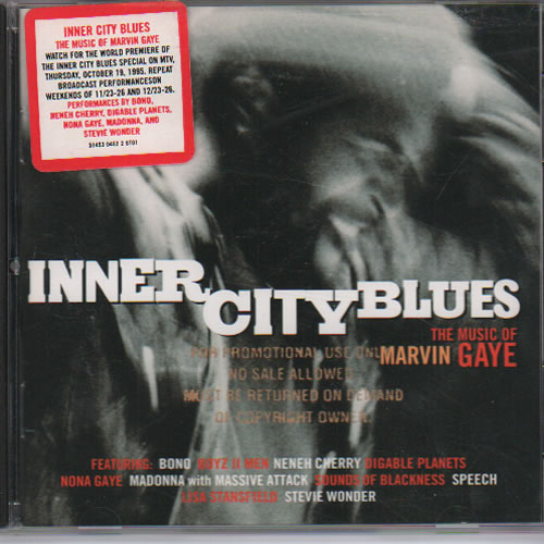 Marvin Gaye Inner City Blues: The Music of Marvin Gaye 1995 USA CD album 31453-0452-2