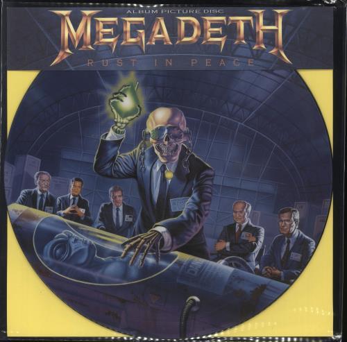 Image of Megadeth Rust In Peace 1990 UK picture disc LP ESTPD2132