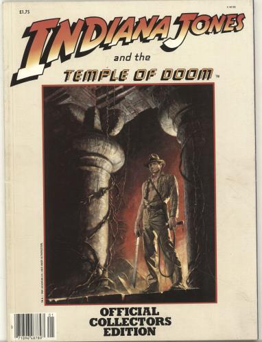Indiana Jones Indiana Jones And The Temple Of Doom Collectors Magazine 1984 UK magazine K48789