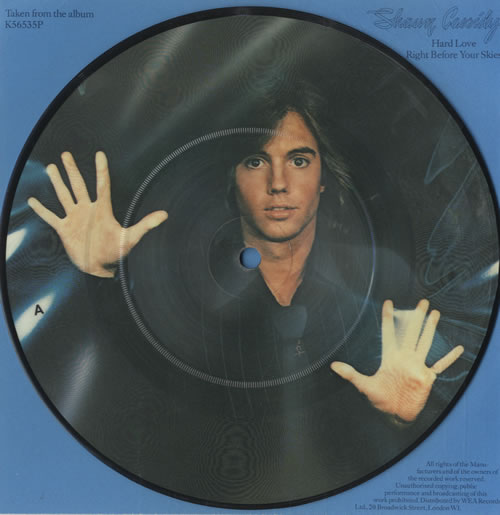 Shaun Cassidy Hard Love 1978 UK 7 picture disc K56535P