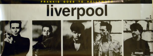 Frankie Goes To Hollywood Liverpool 1986 USA poster 37 X 13