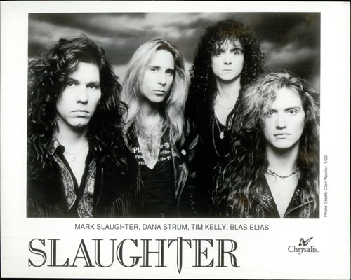 Slaughter Slaughter Rock Band Day 1991 USA press pack PRESS PACK