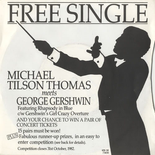 Michael Tilson Thomas Michael Tilson Thomas Meets George Gershwin 1982 UK 7 vinyl XPS151