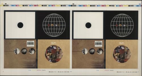 BBM Where In The World  Artwork  Two Sheets 1994 UK artwork PROOF ARTWORK