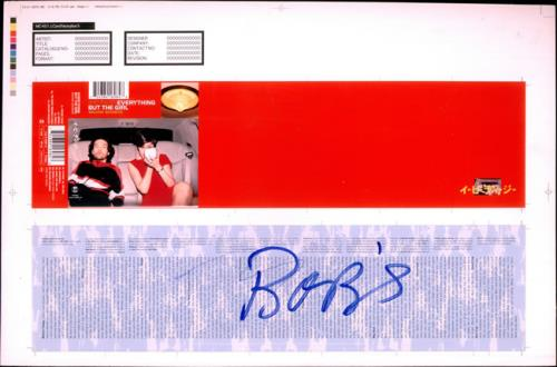Everything But The Girl Walking Wounded  Cassette 1996 UK artwork PROOF ARTWORK