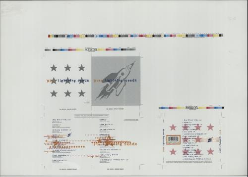 The Lightning Seeds Pure  CD Artwork 1996 UK artwork PROOF ARTWORK