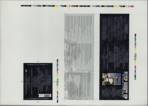 Tom Waits Step Right Up  Artwork 1995 UK artwork PROOF ARTWORK