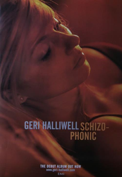 Geri Halliwell SchizoPhonic  Set Of 4 Posters 1999 UK poster PROMO POSTERS