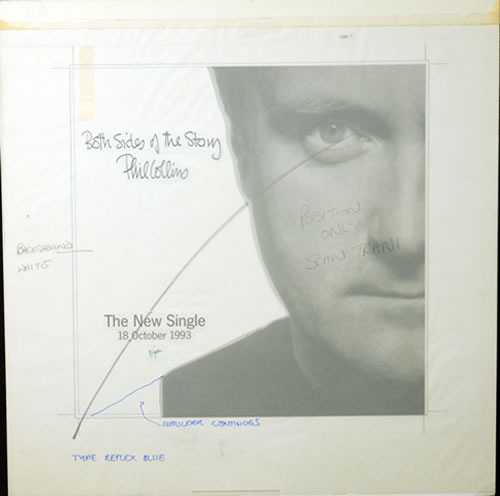 Phil Collins Both Sides Of The Story  Nine Original Proof Artworks 1993 UK artwork PROOF ARTWORK