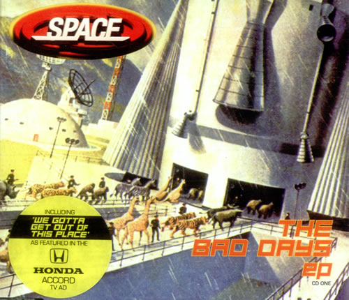 Space (90s) The Bad Days EP 1998 UK CD single CDGUT22