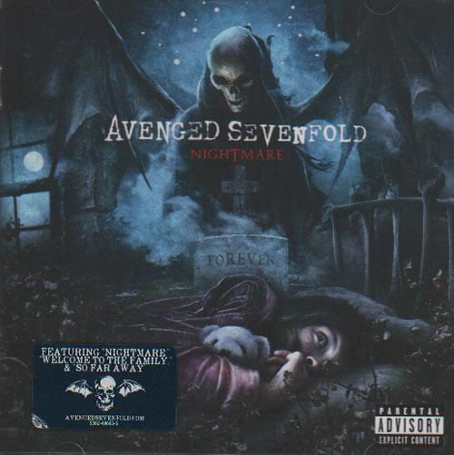 Avenged Sevenfold Nightmare 2010 UK CD album 9362496655