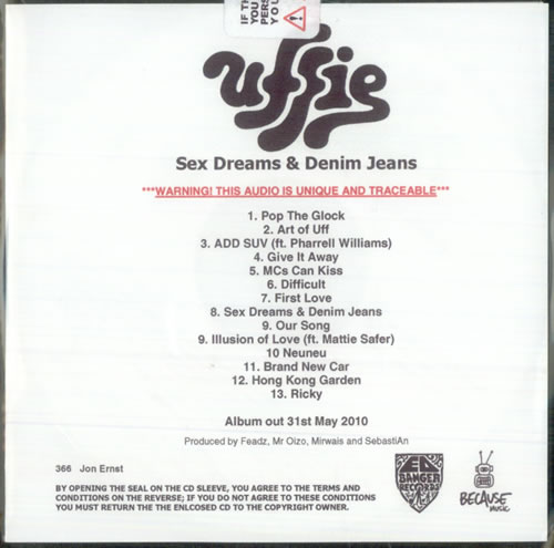 Uffie Sex Dreams & Denim Jeans 2010 UK CDR acetate CDR ACETATE