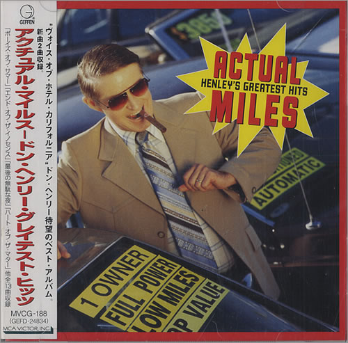 Don Henley Actual Miles  Henleys Greatest Hits 1995 Japanese CD album MVCG188