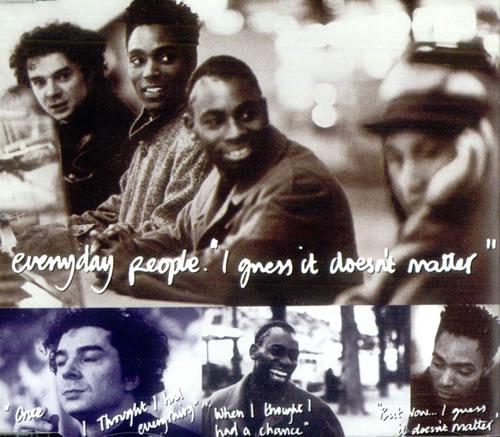 Everyday People (90s) I Guess It Doesnt Matter 1990 UK CD single CDSBK8