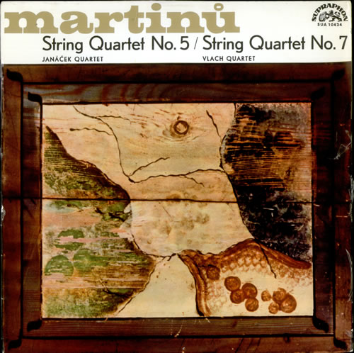 Martinu String Quartet No. 5  String Quartet No. 7 1964 Czech vinyl LP SUA40424