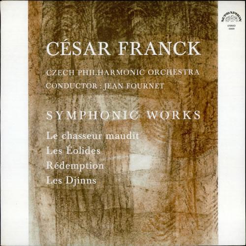 César Franck Symphonic Works 1967 Czech vinyl LP 50800